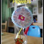 Cupcake case flowers