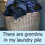 There are gremlins in my laundry pile