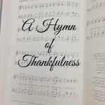 A hymn of thankfulness