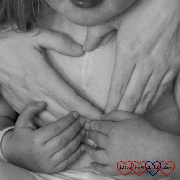 Black & White Photography Project #31 - Little Hearts, Big Love