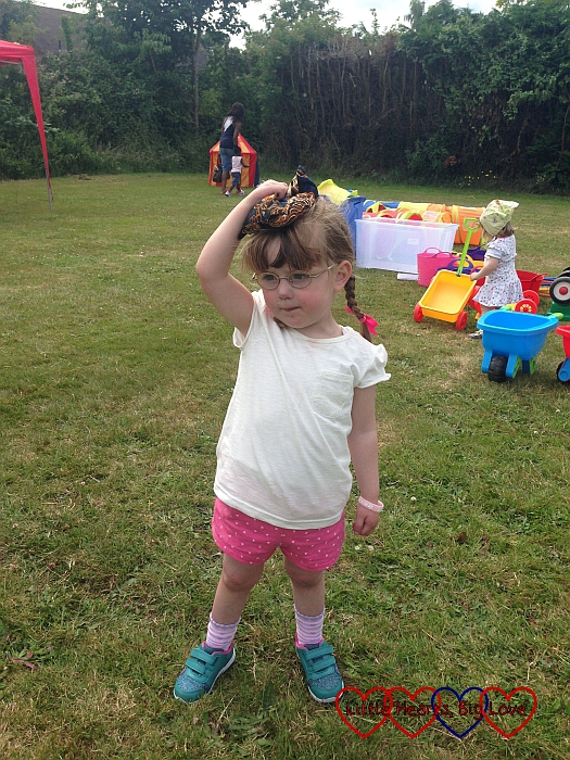 Beanbag race - Jessica's first sports day - Little Hearts, Big Love