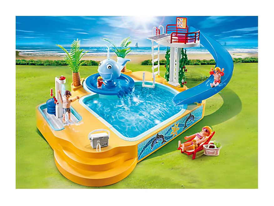 Playmobil Children's Pool with Water Fountain - 5 birthday present ideas from Oldrids & Downtown for toddlers and preschoolers - Little Hearts, Big Love