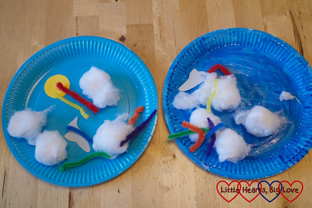 Sky pictures - Up in the sky: themed crafts for toddlers and preschoolers - Little Hearts, Big Love