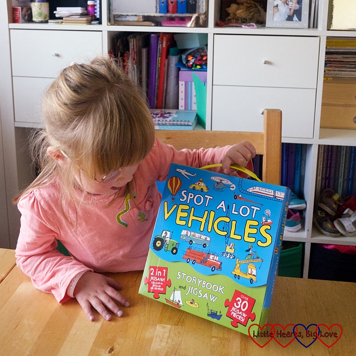 Review: Spot A Lot Vehicles Storybook and Jigsaw - Little Hearts, Big Love