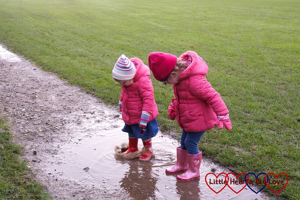 The joys of jumping in muddy puddles - Little Hearts, Big Love