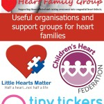 Useful organisations and support groups for heart families
