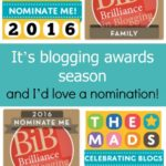 It's blogging awards season – and I'd love a nomination!