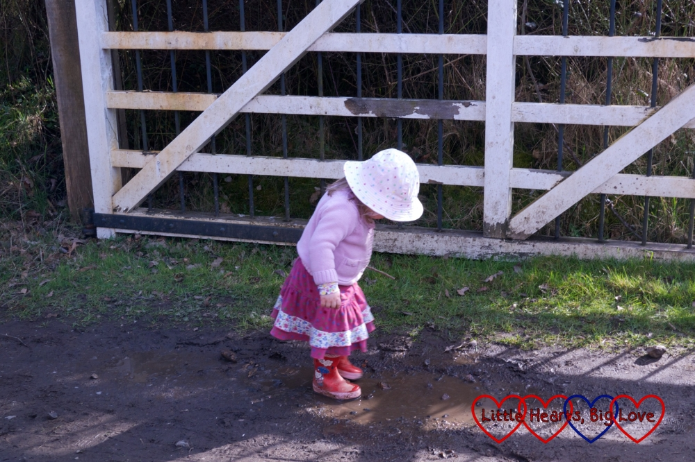 Finding muddy puddles - Easter fun at Chiltern Open Air Museum - Little Hearts, Big Love