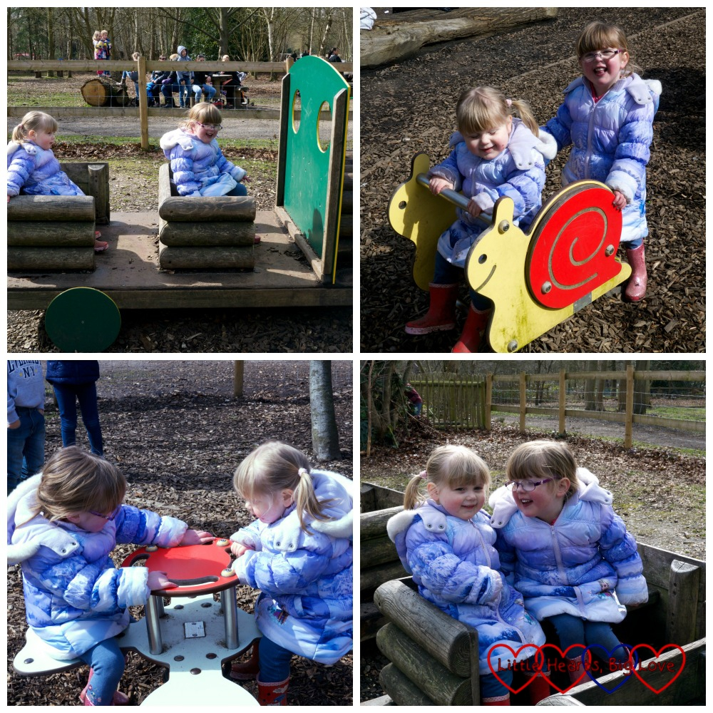 Fun in the children's play area - Easter trail at Black Park - Little Hearts, Big Love