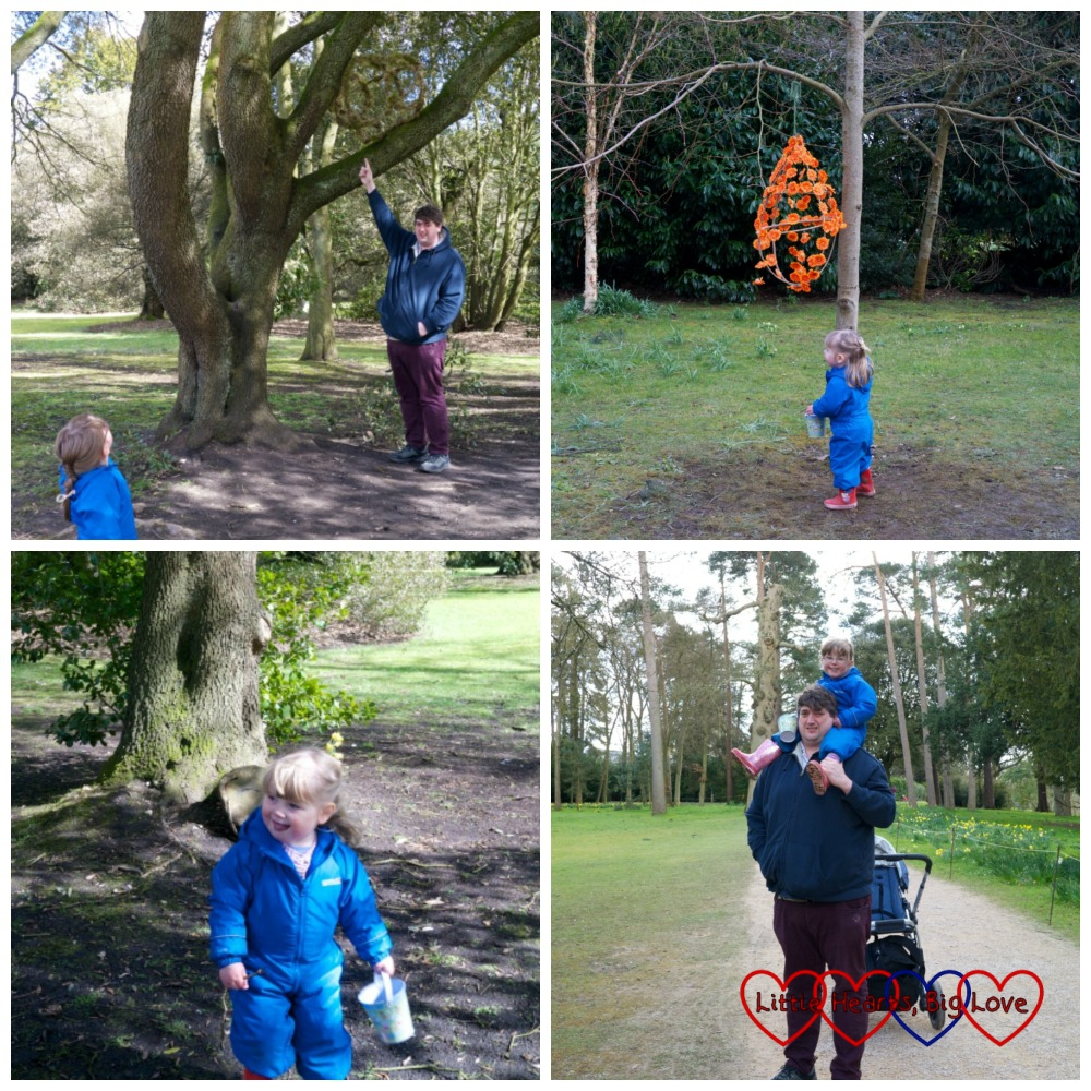 Walking through the woods - Hunting for Easter eggs at Cliveden - Little Hearts, Big Love