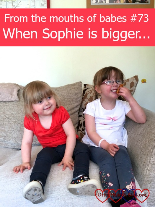 """From the mouths of babes #73 - """"When Sophie is bigger..."""" - a weekly linky sharing the things that children say"""