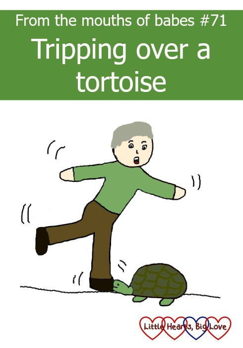 From the mouths of babes - a weekly linky to sharing things that children have said. This week Jessica wonders if Grandad tripped over a tortoise