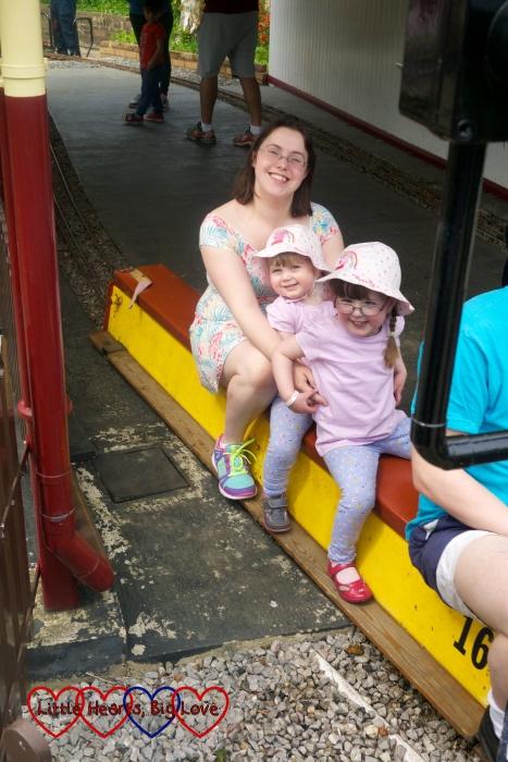 Riding the trains at Ickenham Miniature Railway with Mummy
