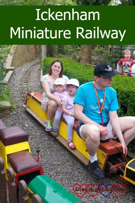 Riding the trains at Ickenham Miniature Railway