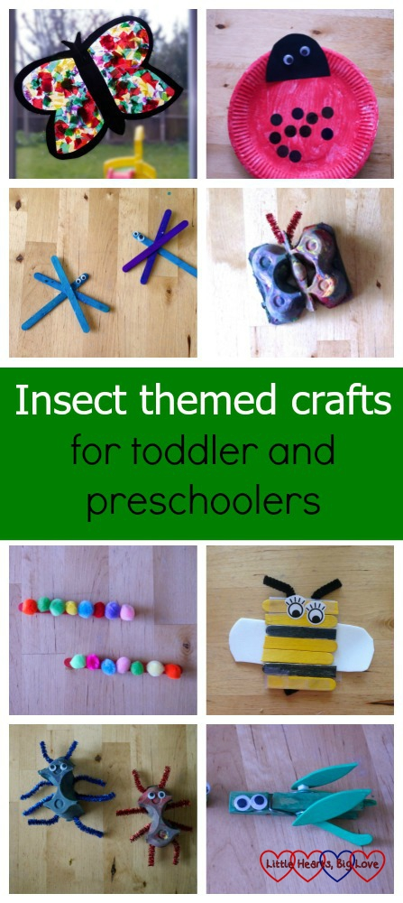 Dragonflies, butterflies, caterpillars, grasshoppers, bees and ladybirds - we've been busy with some insect-themed crafts