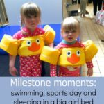 Milestone moments: swimming, sports day and sleeping in a big girl bed