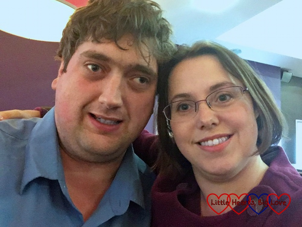 A date night selfie - me and my hubby out bowling
