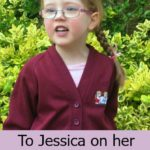 To Jessica on her last day of preschool