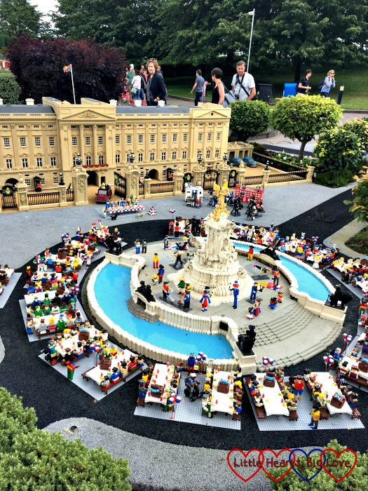 The model of Buckingham Palace at Miniland