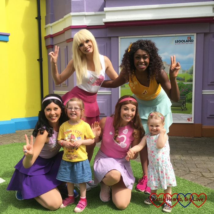 My girls with the Lego Friends girls