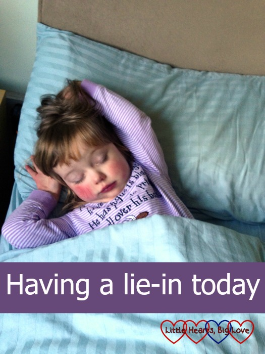 I'm having a lie-in today - an ode to the joys of sleeping in