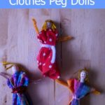 Making clothes peg dolls