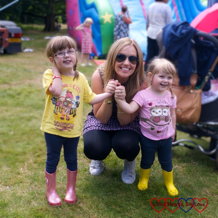 Jessica and Sophie with our Tiny Talk teacher Louisa
