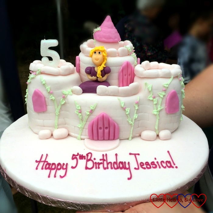 Jessica's princess castle birthday cake