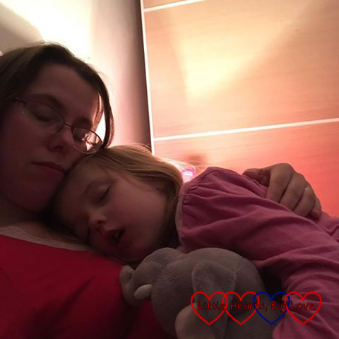 Me having late-night snuggles with Jessica