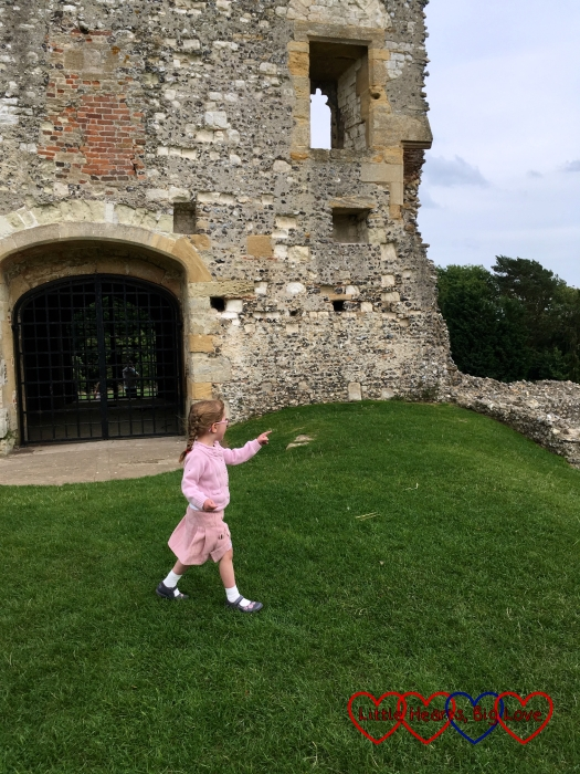 Jessica standing outside the gatehouse