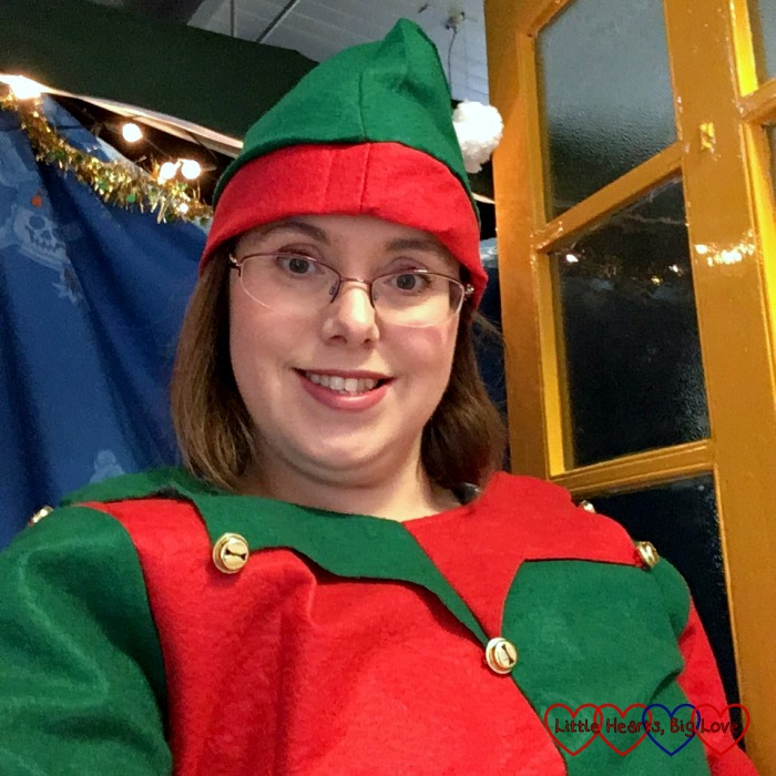 Being an elf at the school Christmas fayre