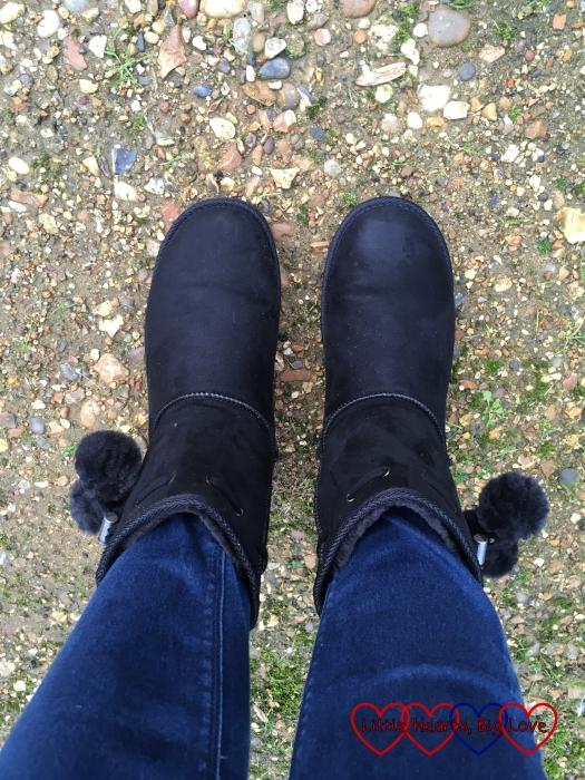 My new black winter boots