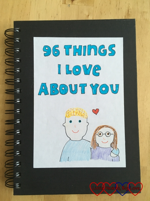 "The cover of my ""96 things I love about you"" book"
