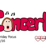 Friday Focus 09/12/16 – Preparing for the Christmas concert
