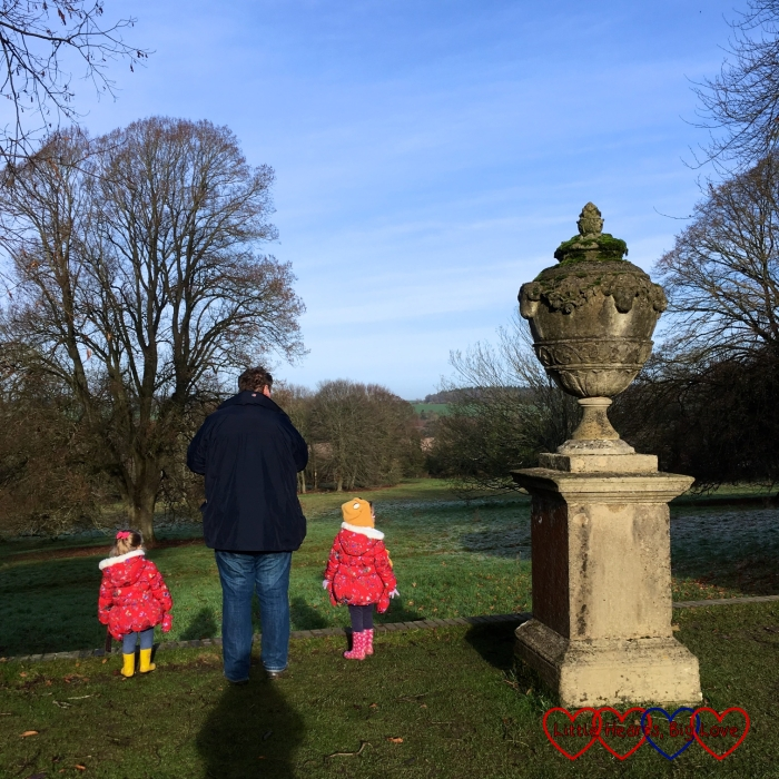 Hubby and the girls admiring the scenery