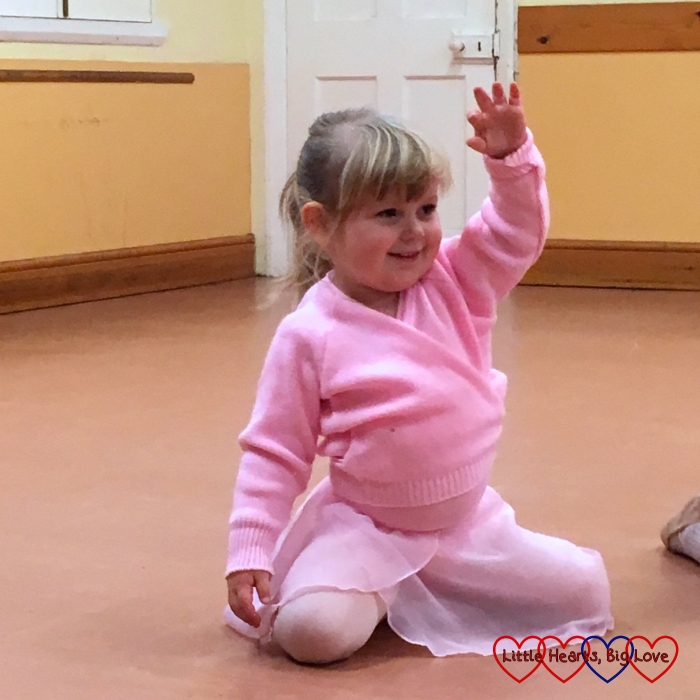 Sophie performing in one of the dances at her end-of-term ballet class