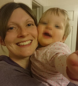 Angela from Life, Motherhood and Everything with her daughter Little H