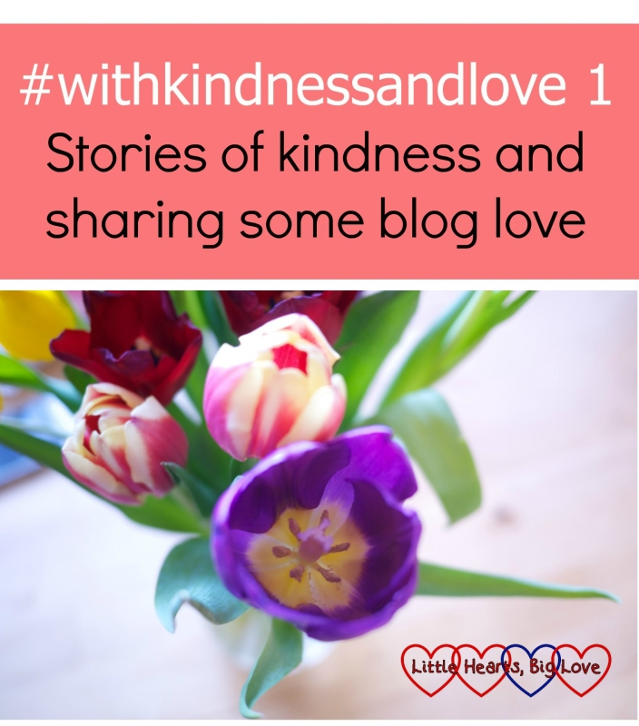 A vase of tulips - #withkindnessandlove - stories of kindness and sharing some blog love