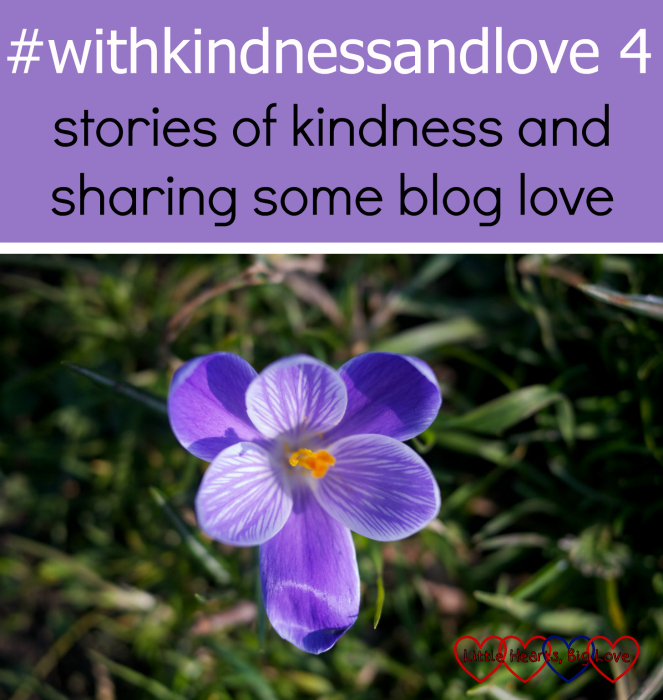A purple crocus in the garden: #withkindnessandlove - stories of kindness and sharing some blog love