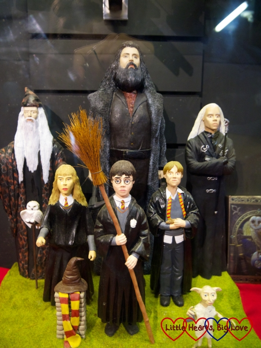 Dumbledore, Hagrid, Lucius Malfoy, Hermione, Harry Potter and Ron recreated in miniature at Babbcombe Model Village