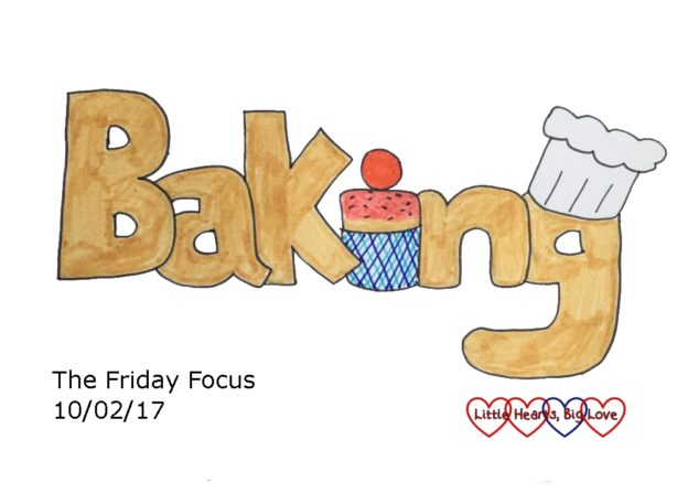 A doodle of the word Baking - this week's word of the week