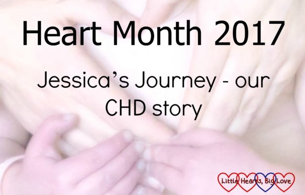 Hands making a heart shape - Heart Month 2017: Jessica's Journey - our CHD story