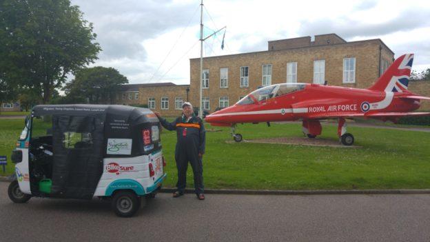 Steve and his Tuk Tuk at RAF Scampton