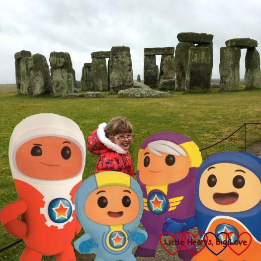 """A """"souvenir selfie"""" with the Go Jetters at Stonehenge"""