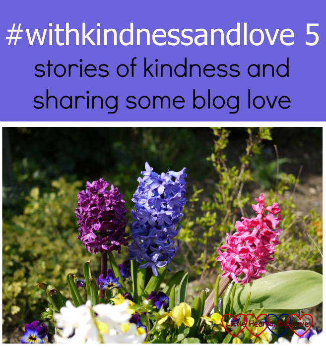 Hyacinths in the garden - #withkindnessandlove 5 - stories of kindness and sharing some blog love