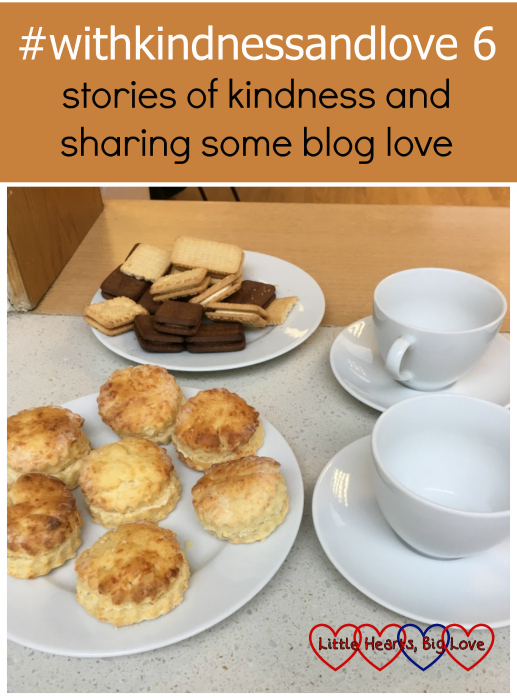 Cheese scones, biscuits and cups and saucers ready for a coffee morning: #withkindnessandlove 6 - stories of kindness and sharing some blog love