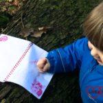 Creating nature art at Langley Park
