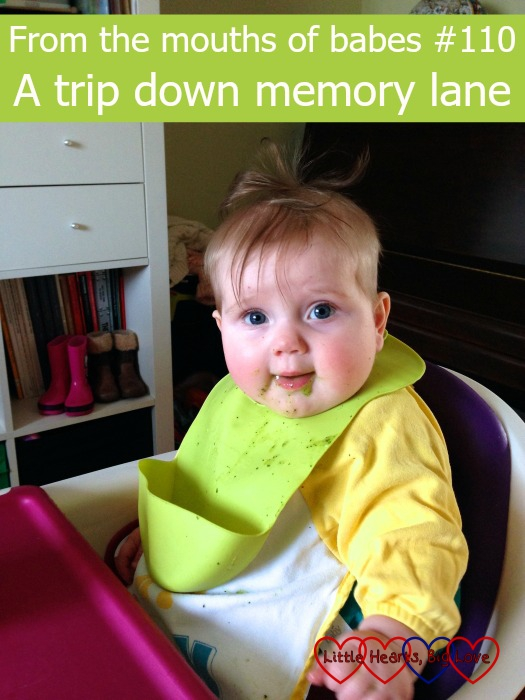 Baby Sophie sitting in her high chair - From the mouths of babes #110 - A trip down memory lane