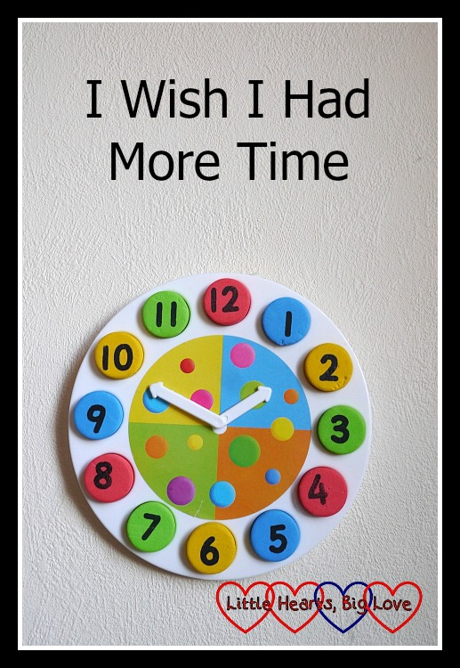 "A children's toy clock set to 1.50 - ""I Wish I Had More Time"""