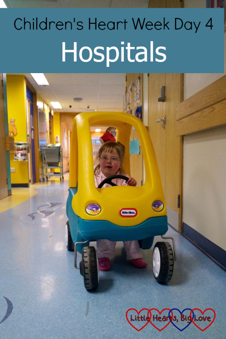"Jessica in a Little Tikes car on Ocean Ward - ""Children's Heart Week Day 4: Hospitals"""